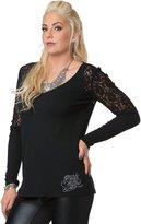 Metal Mulisha Women's Cold Hearted Long Sleeve Top-Small