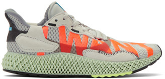 adidas Grey ZX 4000 4D Sneakers