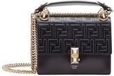 Fendi black Kan I Small leather shoulder bag