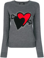Markus Lupfer heart embroidered sweater