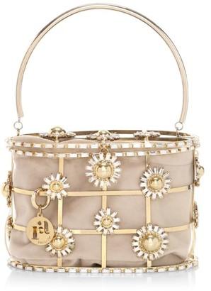 Rosantica Holli Flower Bomb Embellished Top Handle Bag