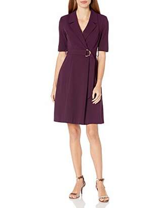 Calvin Klein Women's Elbow Sleeve A-Line Coat Dress