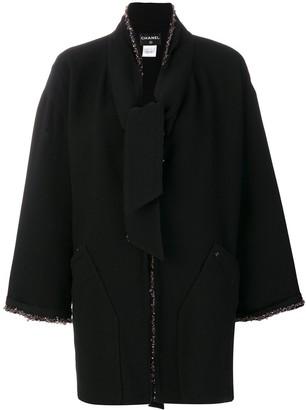 Chanel Pre-Owned beaded midi coat