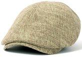 ililily Linen Flat Cap Cabbie Hat Gatsby Ivy Caps Irish Hunting Hats Newsboy with Stretch fit (flatcap-531-2)