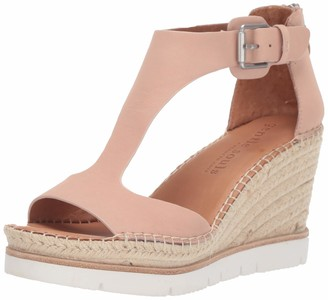 Gentle Souls by Kenneth Cole Women's Elyssa T-Strap Espadrille Wedge Sandal