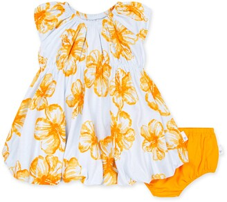 Burt's Bees Floating Hibiscus Organic Baby Bubble Dress & Diaper Cover Set