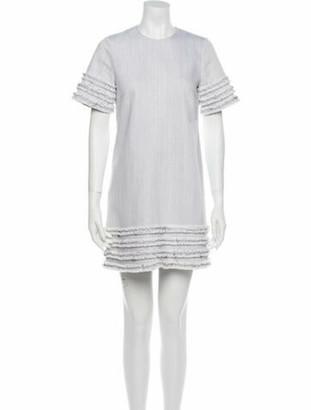 Cinq à Sept Crew Neck Mini Dress Grey
