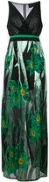 Christian Pellizzari metallic floral print dress