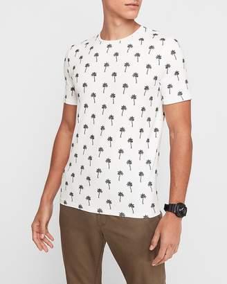 Express Palm Tree Print Moisture-Wicking Performance T-Shirt