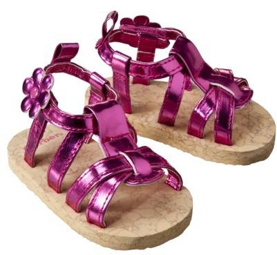 Gerber Newborn Girls Cork Sandal