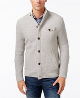 Tasso Elba Men's Button-Front Lambswool Blend Cardigan, Only at Macy's