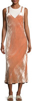A.L.C. Annex V-Neck Velvet Maxi Dress, Pink