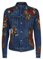 Dolce & Gabbana Embroidered Rose Denim Jacket