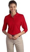 Port Authority Women's Silk Touch 3/4 Sleeve Polo XXL