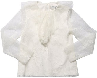 Philosophy di Lorenzo Serafini Lace Overlay Shirt W/ Ruffle