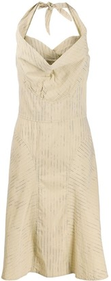 Vivienne Westwood Pre-Owned Cowl Neck Striped Dress