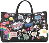 Anya Hindmarch 'Ebury all-over stickers' tote - women - Leather - One Size