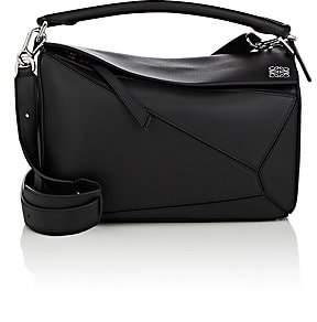 Loewe Women's Puzzle Medium Leather Shoulder Bag - Black