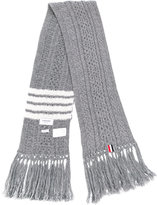 Thom Browne striped knit scarf