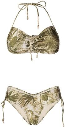 Zimmermann Leaf-Print Bikini Set