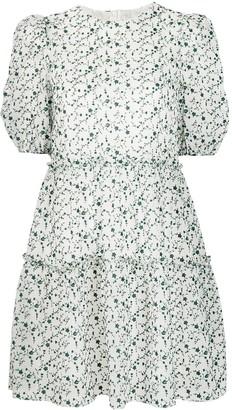 Shrimps Floral Print Puff-Sleeve Dress