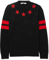Givenchy Cuban-Fit Star-Appliquéd Wool Sweater