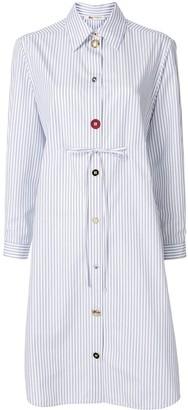 Ports 1961 Multi-Button Pinstriped Shirt Dress