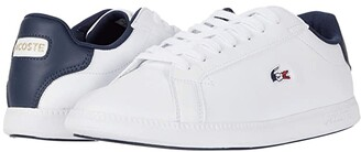 Lacoste Graduate Tri 1 (White/Navy/Red) Women's Shoes