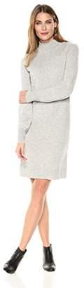 Lark & Ro Women's 100% Cashmere Long Sleeve Soft Turtleneck Sweater Dress