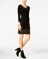 Calvin Klein Petite Grommet-Trim Sweater Dress