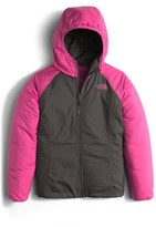 The North Face 'Perseus' Water Repellent Heatseeker TM Insulated Hooded Reversible Jacket (Big Girls)