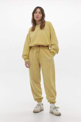 Urban Outfitters Iets Frans... iets frans. Washed Yellow Joggers - yellow XS at