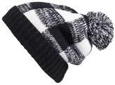 BP Check Pompom Knit Beanie