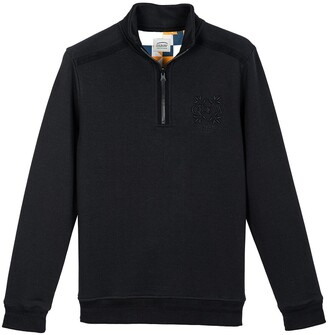 Oxbow Cotton Mix Jumper with High Half-Zip Neck