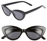 BP Women's 51Mm Mini Cat Eye Sunglasses - Black/ Black