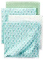 Carter's Dot 4-Pack Blankets in Teal