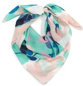Women's Halogen Kelley Floral Square Silk Scarf