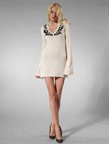 Zahara Stone Embellishment Dress in Ivory