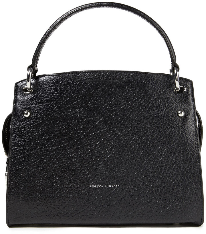 Thumbnail for your product : Rebecca Minkoff Val Pebbled-leather Tote