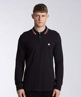 Pretty Green Long Sleeve Multistriped Polo Shirt