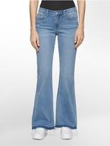 Calvin Klein Medium Wash Sneaker Flared Jeans