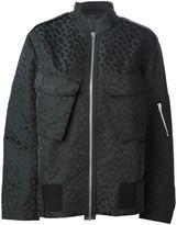 Alexander Wang leopard print bomber jacket