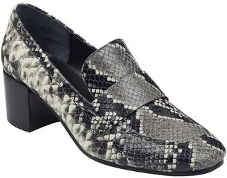 Marc Fisher Hudson Snake Print Block Heel Loafer