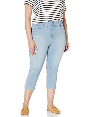 Laurie Felt Women's Plus Size Curve Silky Denim Capri Jeans