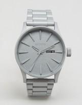 Nixon Primer Sentry Bracelet Watch In Silver