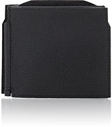 Valextra Men's Tri-Fold Money Clip Billfold-BLACK