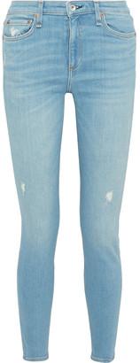 Rag & Bone Cate Distressed Mid-rise Skinny Jeans