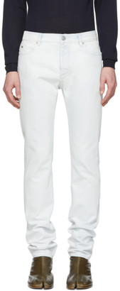 Maison Margiela Blue and White Super Bleach 80s Jeans
