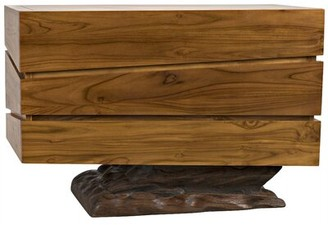 Noir Cliff Bali Teak 3 Drawer Dresser