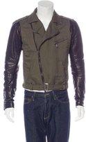 Pierre Balmain Leather-Trimmed Moto Jacket